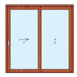 ALZANTE SCORREVOLE 1 anta + fisso - Effetto legno